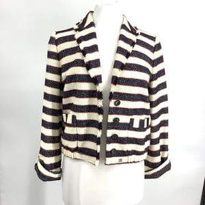 J Crew Collection Legion Striped Jacket Size 6